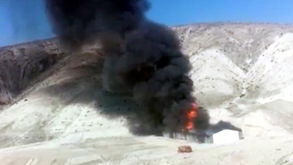 Beypazarı'nda tüp deposunda patlama