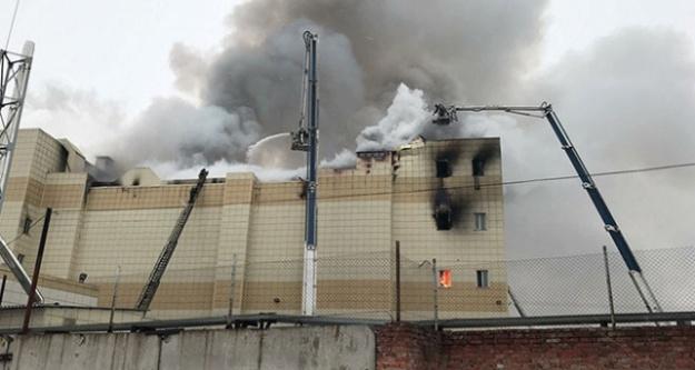 Rusya'da alışveriş merkezinde yangın: 53 ölü