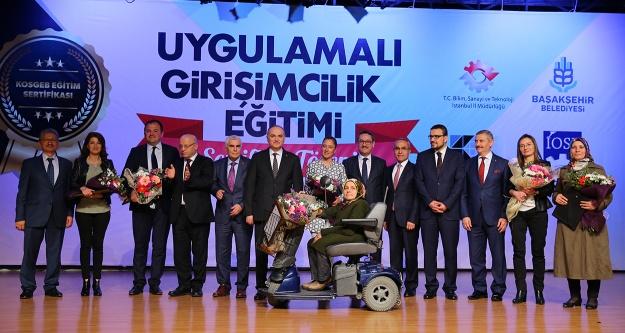 Başakşehir'li girişimcilerin sertifika heyecanı
