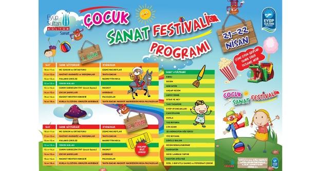 Eyüpsultan'da çocuk sanat festivali