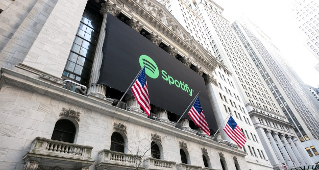 Spotify New York Borsası'nda