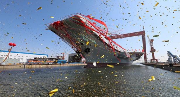 Çin'in ikinci uçak gemisi deneme seferinde