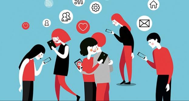 Gençler telefonunu elinden bırakamıyor