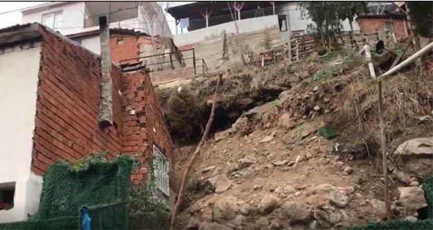 Çiğli'ye heyelan vurdu 33 ev her an yıkalabilir