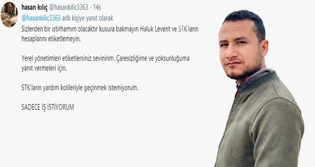 Şanlıurfa Belediyesi'nden iş istedi Twitter'dan  engellendi