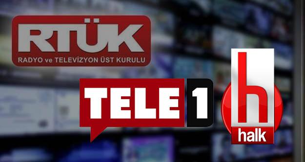 RTÜK'ten Halk TV ve TELE 1'e para cezası