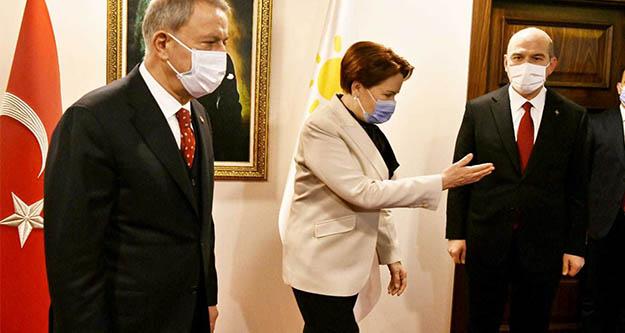 Akar ve Soylu, Meral Akşener'i ziyaret etti