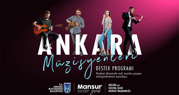 Ankara Büyükşehir'den müzisyenlere tanıtım ve nakit desteği