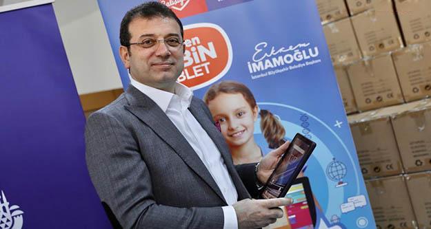 Ekrem İmamoğlu 40 bin tablet dağıtımını başlattı