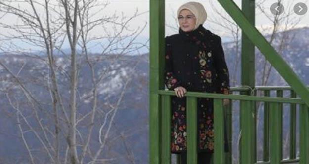 Emine Erdoğan, Handüzü Yaylası'nı ziyaret etti