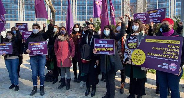 Las tesis dansıyla protesto yapılan kadınların duruşması 10 Nisana ertelendi