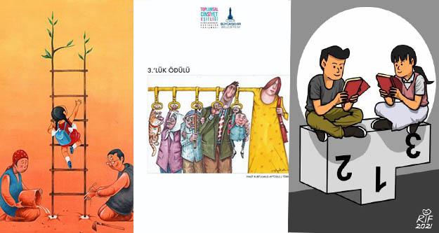 Toplumsal Cinsiyet Eşitliği Uluslararası Karikatür Yarışması sonuçlandı