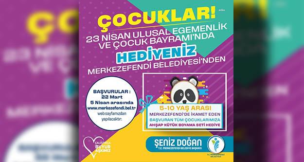 23 Nisan'da çocukların hediyesi Merkezefendi Belediyesi'nden