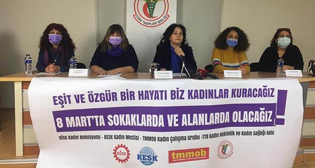 Emek ve Meslek Örgütlerinden 8 Mart açıklaması