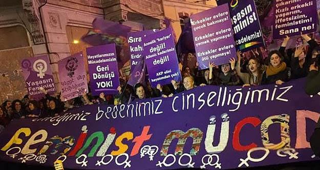 'Feminist Gece Yürüyüşü'nde gözaltına alınan kadınlar serbest bırakıldı