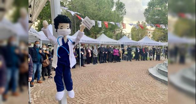 Karşıyaka'da Sağlık Emekçilerine Saygı Anıtı' açıldı
