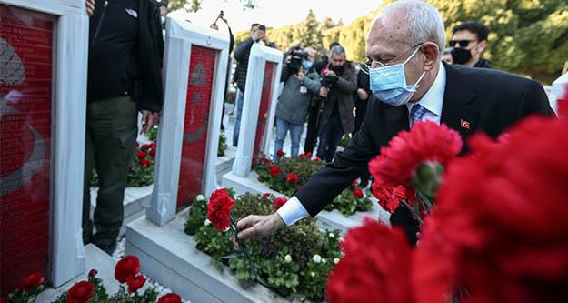 Kılıçdaroğlu'ndan Şehitlik Abidesine ziyaret