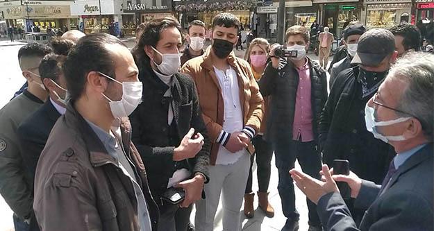Konya'da esnaf valilik önünde eylem yaptı: Devlet bizi yalnız bıraktı