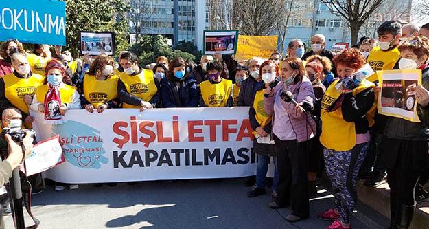 Şişli Etfal Hastanesi'nin kapatılmasına karşı eylem