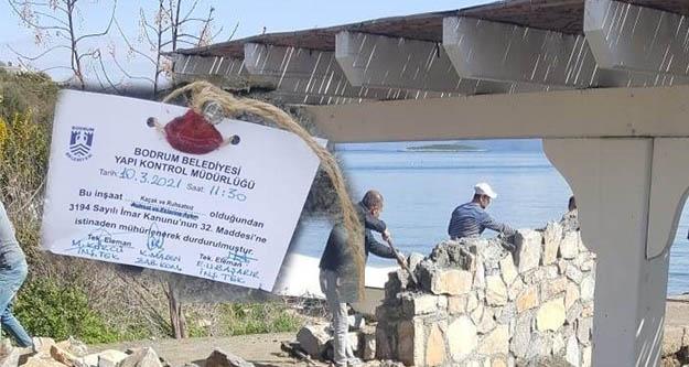 Turgut Yılmaz'ın kaçak ve ruhsatsız duvarı yıkıldı