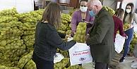 10 ton patates ihtiyaç sahiplerine dağıtıldı