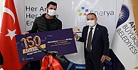 Antalya Büyükşehir'de 150 bininci doğal gaz abonesi için tören düzenlendi