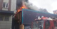 Ataşehir'de fabrikada  korkutan yangın
