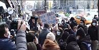 Ankara'da açıklama yapmak isteyen 10 kadına polis müdahalesi