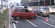 Maslakta kaza: Trafik felç oldu