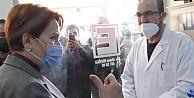 Meral Akşener, Urfa'da  eczacıya, 'askıda mama' bıraktı